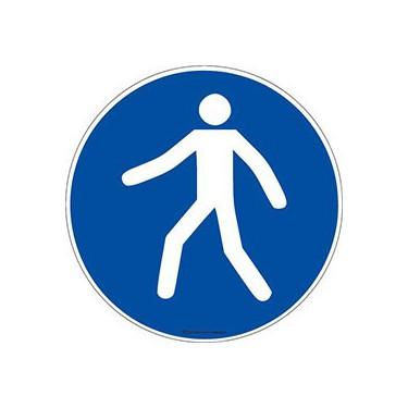 Lot de 5 autocollants Obligation utiliser le passage piétons ISO 7010 M024