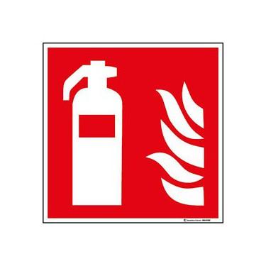 Lot de 5 autocollants Extincteur Incendie ISO 7010 - F001