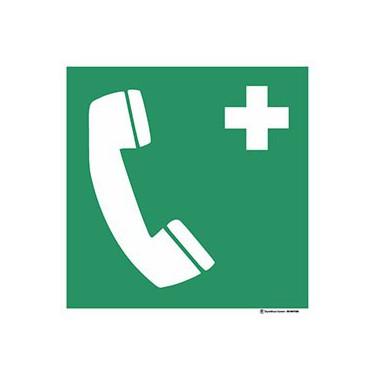 Panneau Téléphone d'urgence ISO 7010 E004