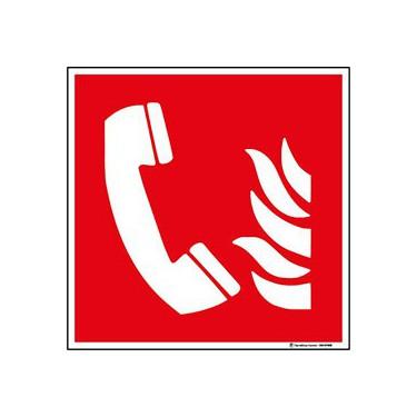 Panneau Téléphone à utiliser en cas d'incendie ISO 7010 F006