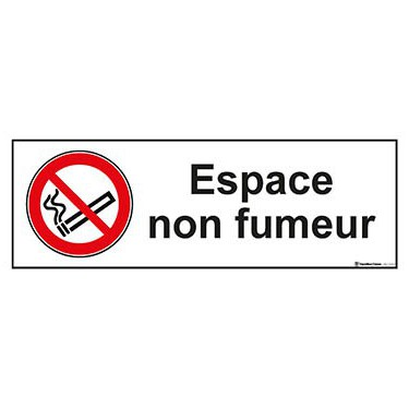 Panneau Espace non fumeur ISO 7010 P002
