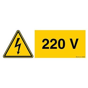 Panneau Danger électricité 220V