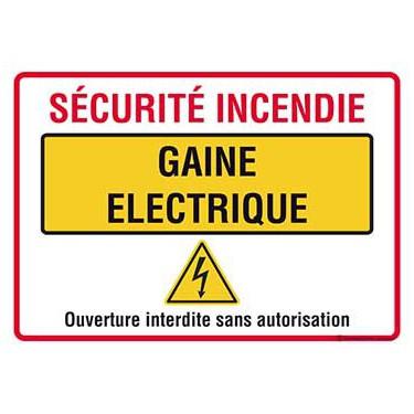 Panneau Sécurité incendie gaine électrique