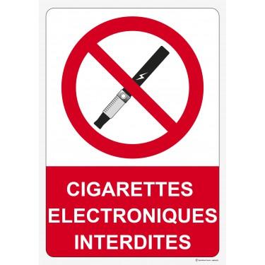 Panneau Cigarettes Electroniques Interdites