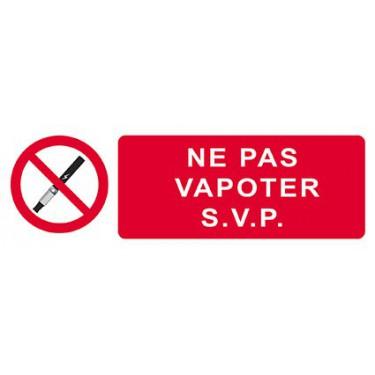 Panneau Ne Pas Vapoter S.V.P.
