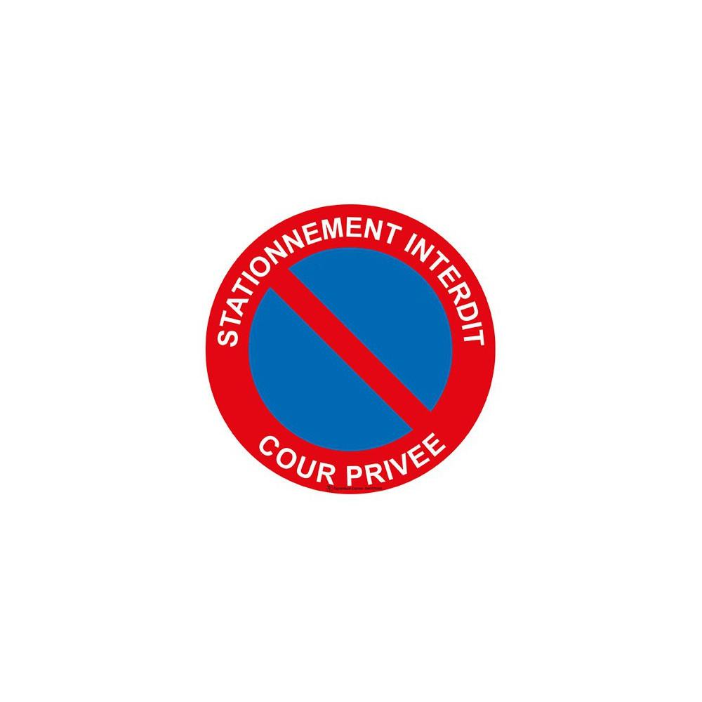 Panneau stationnement interdit cour priv e - Panneau de stationnement interdit ...