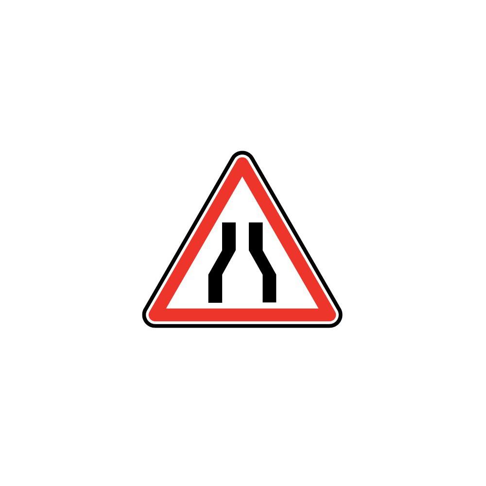 Panneau routier - type A Danger - A3  chaussée rétrécie - Signalétique Express