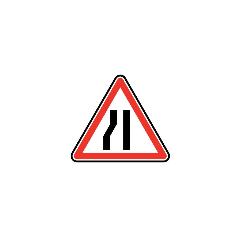 Panneau routier - type A Danger - A3b  chaussée rétrécie par la gauche - Signalétique Express
