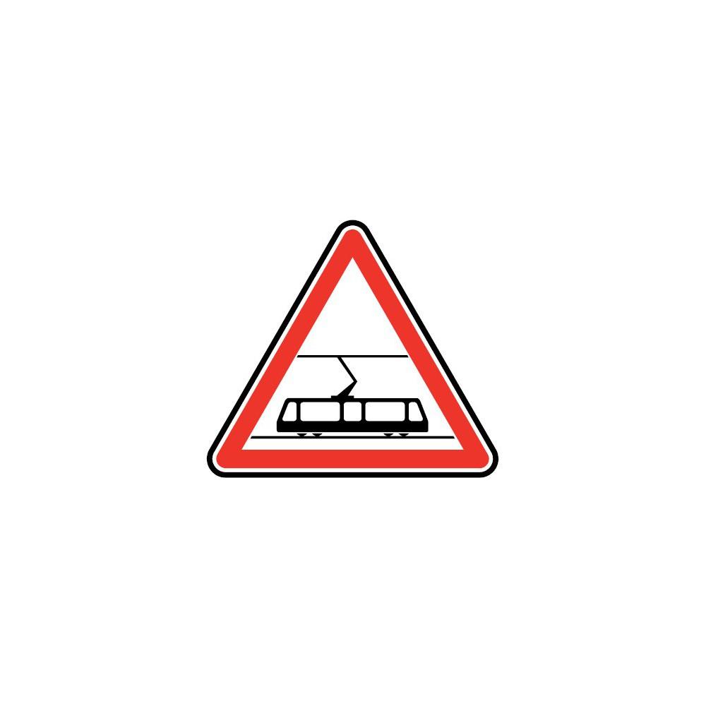 Panneau routier - type A Danger - A9  traversée de voies de tramway - Signalétique Express