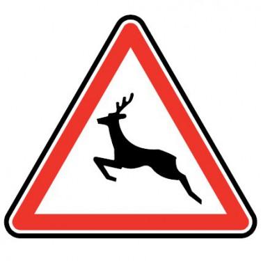 Panneau routier - type A Danger - A15b  passage d'animaux sauvages - Signalétique Express