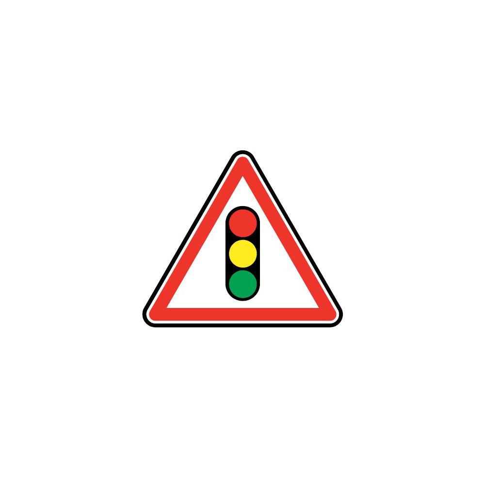 Panneau routier - type A Danger - A17  annonce de feux tricolores - Signalétique Express