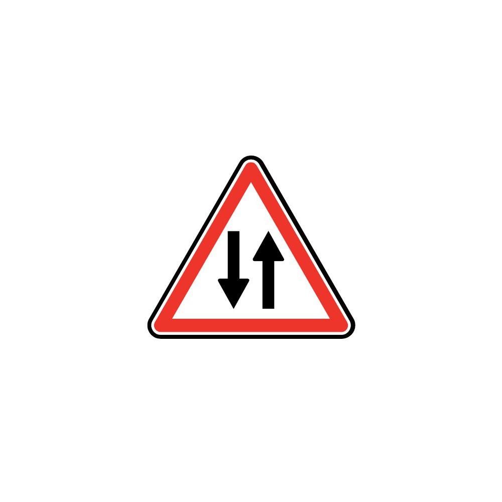Panneau routier - type A Danger - A18  circulation dans les deux sens - Signalétique Express