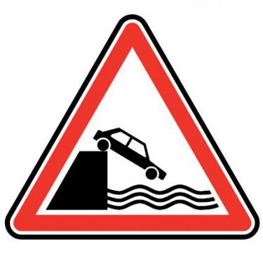 Panneau routier - type A Danger - A20  débouché sur un quai ou une berge - Signalétique Express