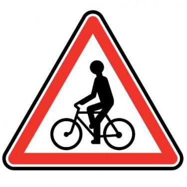 Panneau routier - type A Danger - A21  débouché de cycliste venant de droite ou de gauche - Signalétique Express
