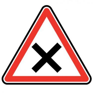Panneau routier - type AB Intersection - AB1 intersection où le conducteur est tenu de céder le passage