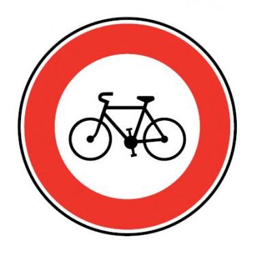 Panneau routier-type B interdiction  - B9b accès interdit aux cycles - Signalétique Express