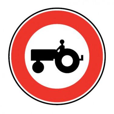 Panneau routier-type B interdiction  - B9d accès interdit aux véhicules agricoles à moteur - Signalétique Express