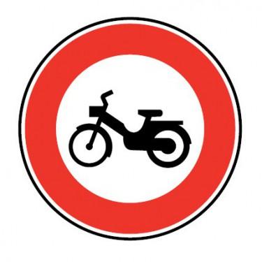 Panneau routier-type B interdiction  - B9g accès interdit aux cyclomoteurs - Signalétique Express