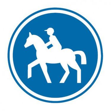 Panneau routier-type B Obligation  - B22c chemin obligatoire pour cavaliers - Signalétique Express