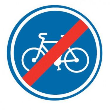 Panneau routier-type B Obligation - B40 fin de piste ou bande cyclable obligatoire - Signalétique Express