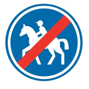 Panneau routier-type B Obligation  - B42 fin de chemin obligatoire pour cavaliers - Signalétique Express