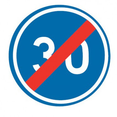 Panneau routier-type B Obligation  - B43 fin de vitesse minimale obligatoire - Signalétique Express