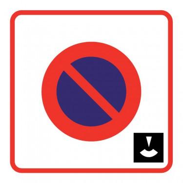 Panneau routier-type B Zones de circulation - B6b3 zone de stationnement à durée limitée et contrôlé par disque
