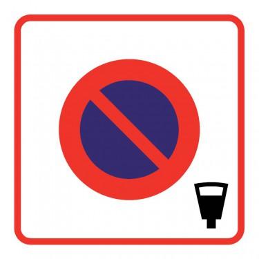 Panneau routier-type B Zones de circulation - B6b4 zone de stationnement payant - Signalétique Express