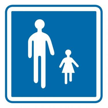 Panneau routier-type B Zones de circulation - B54 indique une aire piétonne