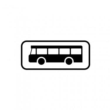 Panonceau M4b pour panneaux de type B carré  - panonceau M4b