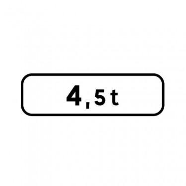 Panonceau M4f pour panneaux de type B carré  - panonceau M4f