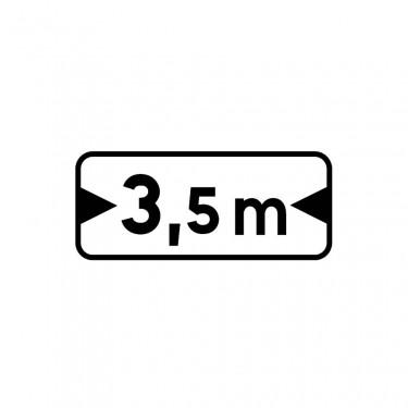 Panonceau M4u pour panneaux de type B carré  - panonceau M4u