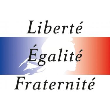 Panneau Liberté, Egalité, Fraternité