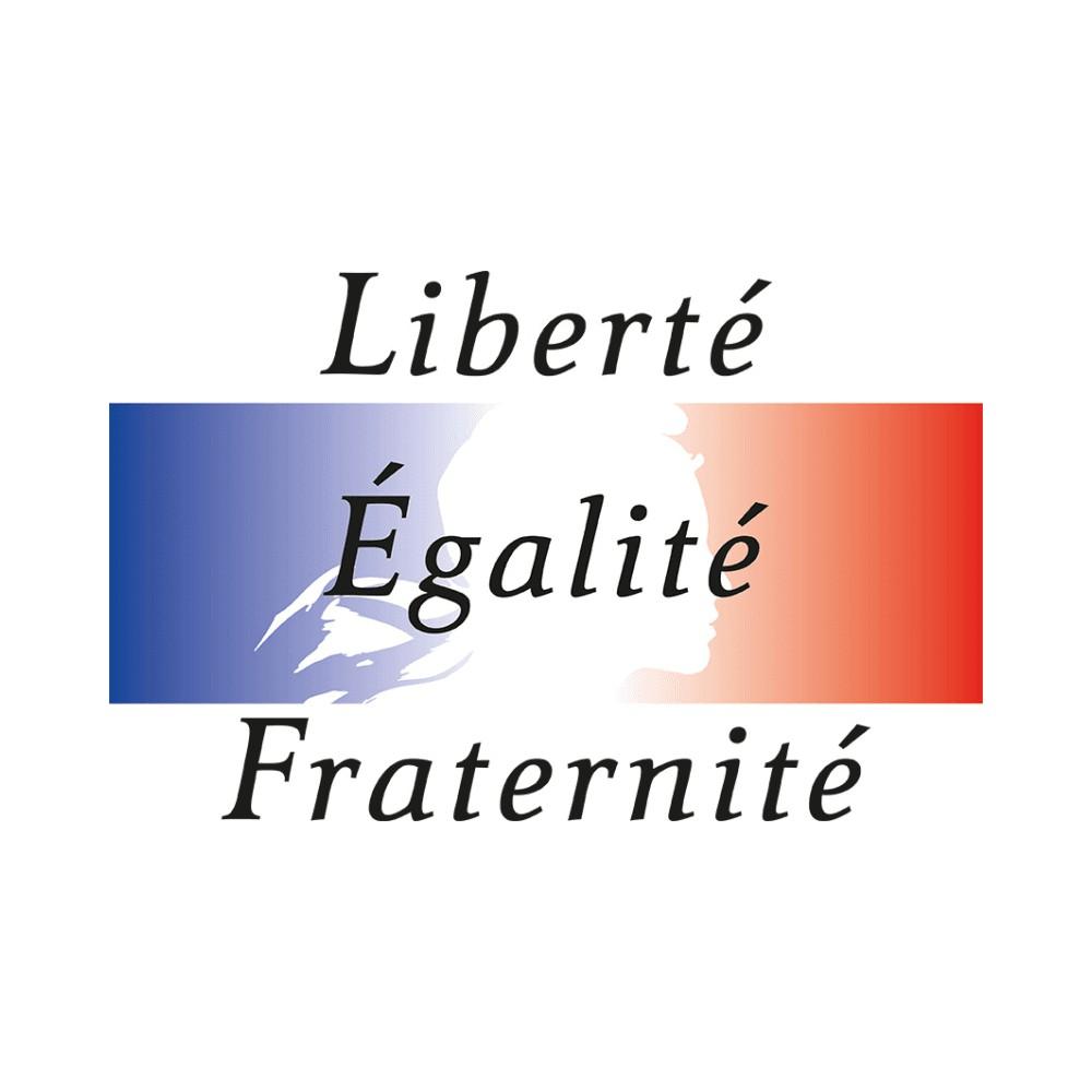 Panneau rectangulaire Liberté, Egalité, Fraternité