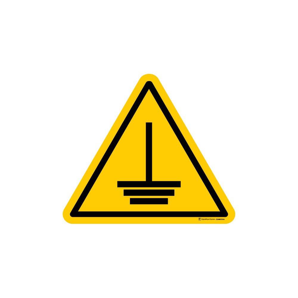 Panneau Danger mise à la terre