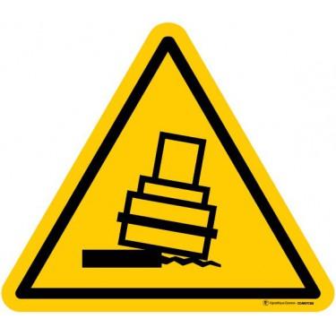 Autocollants Danger Risque de basculement - Lot de 5