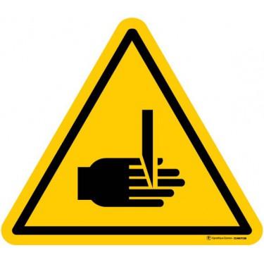 Panneau Danger risque de coupure cisaillement