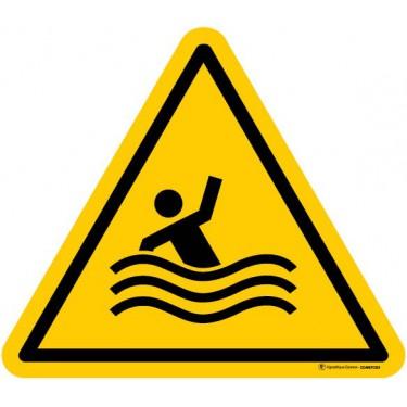 Autocollants de Danger Risque de noyade - Lot de 5