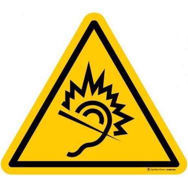 Autocollants Danger dû au bruit - Lot de 5