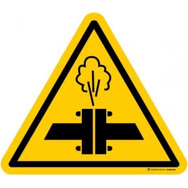 Autocollants Danger Vapeurs chaudes - Lot de 5