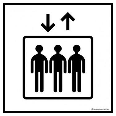 Panneau de Signalisation Accès Ascenseur