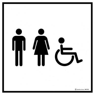 Panneau Information toilettes homme femme handicapés