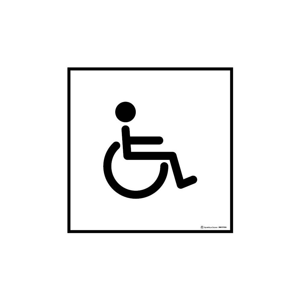 Panneau Information toilettes handicapés