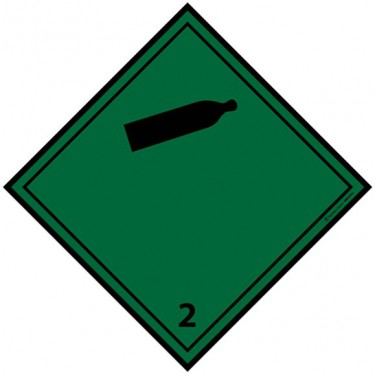 Panneau ADR 2.2 Gaz ininflammables non toxiques