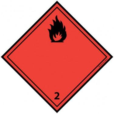Panneau ADR 2.1 Gaz inflammables