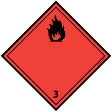 Panneau ADR 3 Liquides inflammables