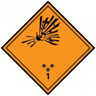 Panneau ADR 1 Explosif