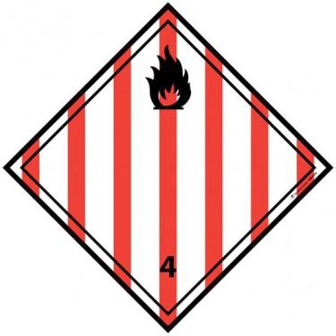 Panneau ADR 4.1 Matière Solide Inflammable
