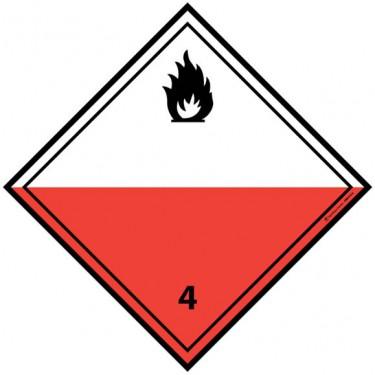 Panneau ADR 4.2 Matières spontanément inflammables