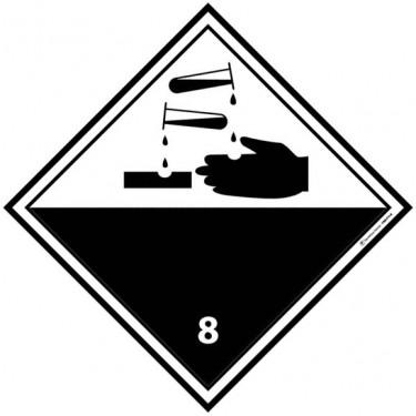 Panneau ADR 8 Matières corrosives